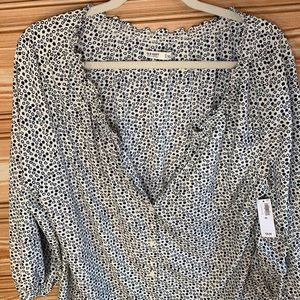 Old Navy Button Up Star Peasant Blouse XL